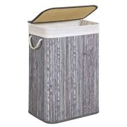SONGMICS Bamboo Laundry Hamper with Lid
