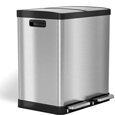 Dual Step Trash Can & Recycle 16 Gallon