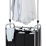 Finnhomy 3-Bag Rolling Laundry Sorter Cart