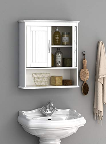 Spirich Home Bathroom Cabinet Wall Mounted with Doors