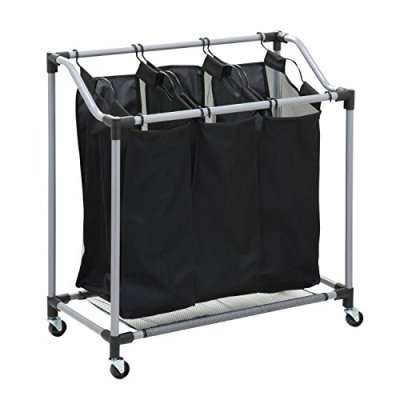 Honey-Can-Do Triple Laundry Sorter with Mesh Bags