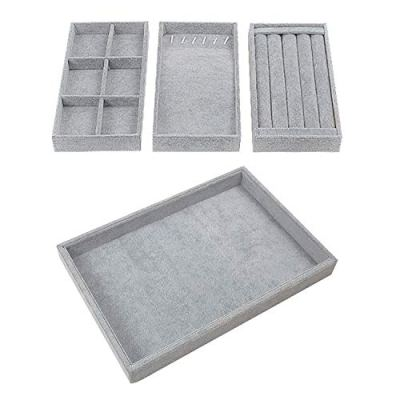 Houseables Jewelry Tray Organizer, Stackable Accessories Storage