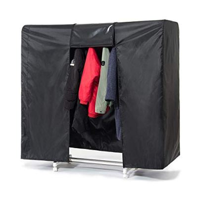 """Garment Rack Cover 59"""" Clothes Rack Cover for Storage"""