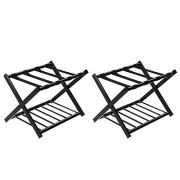 Tangkula Luggage Rack (Set of 2), Folding Metal Suitcase