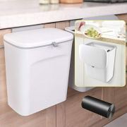 AYADA Hanging Trash Can with Lid, Hanging Garbage Can