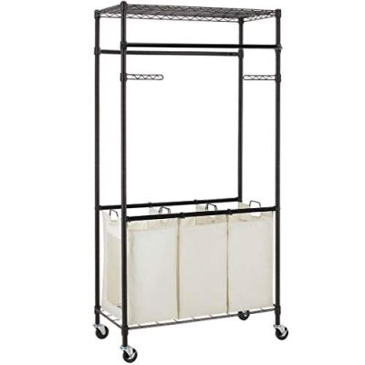 3 Compartment Laundry Sorter Hamper Heavy Duty