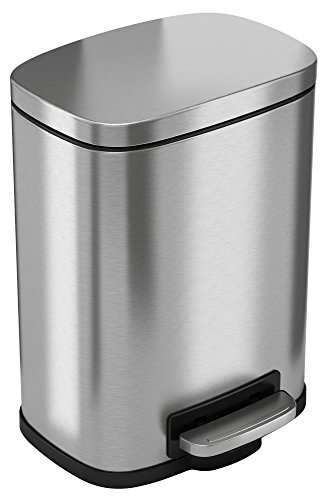 iTouchless SoftStep 1.32 Gallon Bathroom Stainless Steel