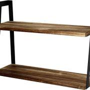 Peter's Goods 2-Tier Rustic Floating Wall Shelves for Bedroom, Kitchen