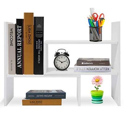 Hossejoy Wood Adjustable Desktop Storage Organizer