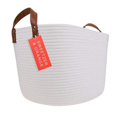 Cotton Rope Storage Basket Blanket, Laundry, Toy Storage