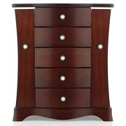 RR ROUND RICH DESIGN Jewelry Box - Made of Solid Wood