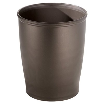 iDesign Kent Plastic Wastebasket, Small Round Plastic Trash Can