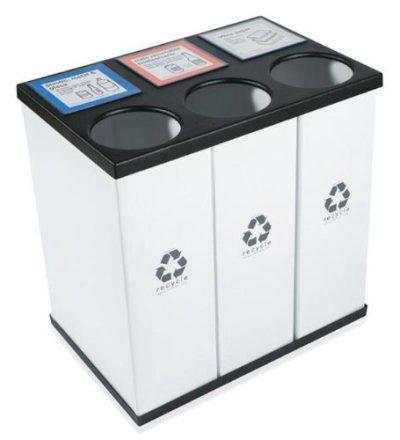 Plastic Light Weight Large Triple Recycling Bin