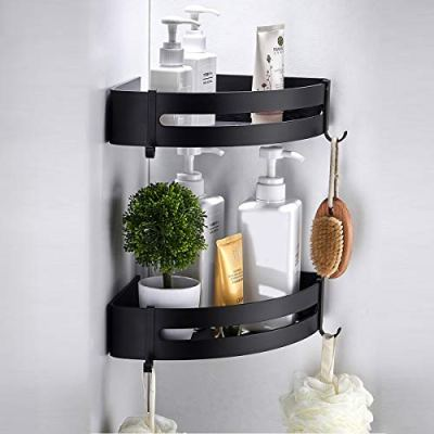 RANK 2-Pack Bathroom Corner Shelf Shower Caddy Organizer