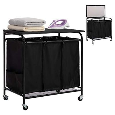 Laundry Sorter Cart with Foldable Ironing Board