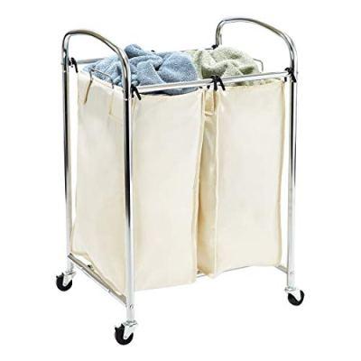 Classics Mobile 2 Compact Laundry Hamper Sorter Bag Cart