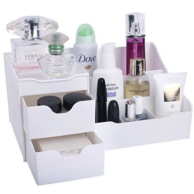 Mantello Makeup Organizer - Vanity Box with Drawers for Cosmetics