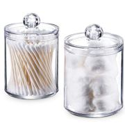 Qtip Holder Storage Canister Clear Plastic Acrylic Jar