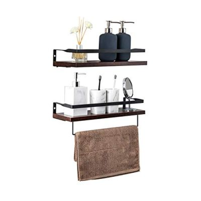 TOLEAD 2 Sets Floating Shelves Wall Mounted Wooden