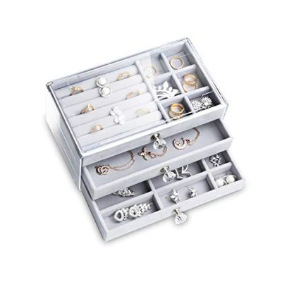 Box with 3 Drawers Jewelry Case