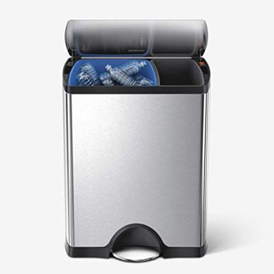 Dual Compartment Recycling Kitchen Step Trash Can