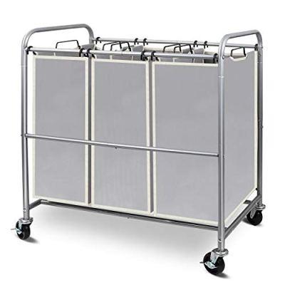 Simple Trending 3-Bag Laundry Hamper Sorter Cart
