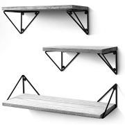 BAYKA Floating Shelves Wall Mounted Set of 3