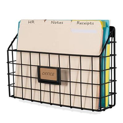 Wide Magazine Rack Metal Wire