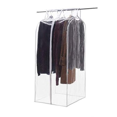 QEES Clear Closet Garment Bag, Hanging Wardrobe