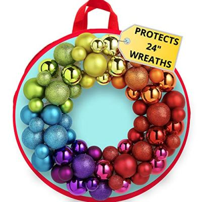 Water Resistant Holder with Clear Plastic Front for 24 Inch Wreaths
