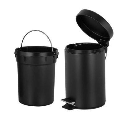 Trash Can with Lid Soft Close and Removable Inner Wastebasket