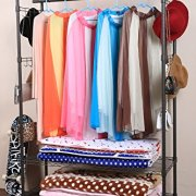 Rolling Free Standing Closet with Lockable Wheels