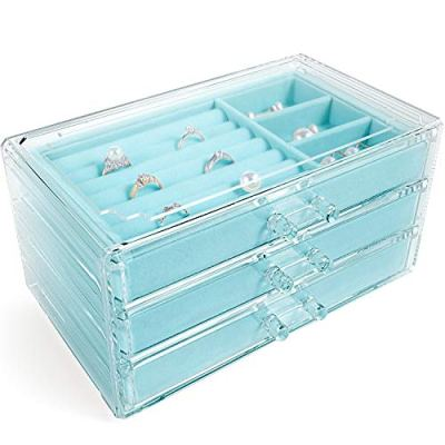 V-HANVER Jewelry Boxes for Women with 3 Drawers