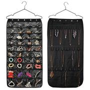 HUSTON LOWELL Hanging Jewelry Organizer Double Sided