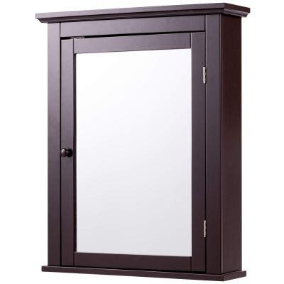 Tangkula Bathroom Cabinet, Mirrored Wall-Mounted Storage Medicine Cabinet