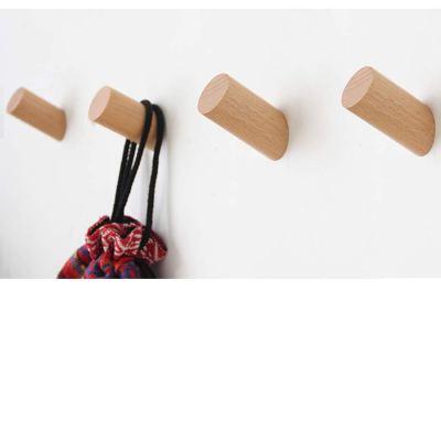 Wooden Hooks Heavy Duty Robe Hook Hat Rack