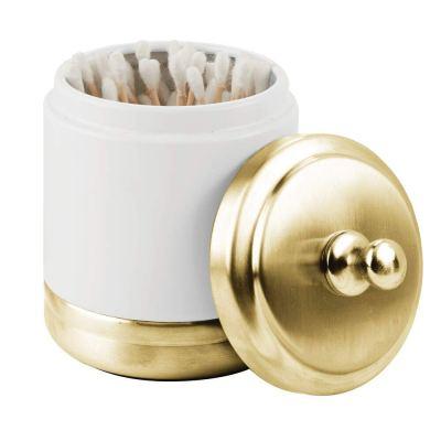 Storage Organizer Canister Jar for Cotton Balls, Swabs