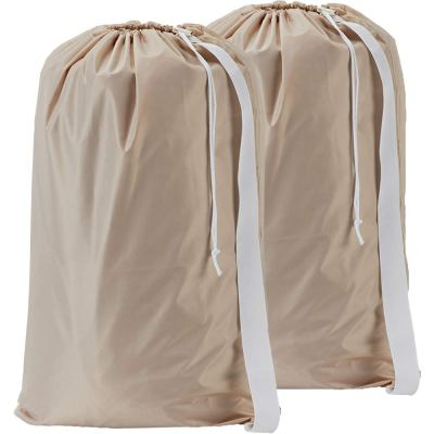 HOMEST 2 Pack XL Nylon Laundry Bag with Strap