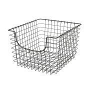 Spectrum Diversified Scoop Wire Basket, Vintage-Inspired Steel Storage