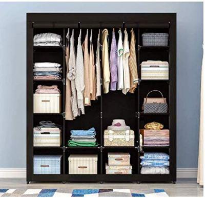 kealive Portable Closet Organizer Storage with Non-Woven Fabric Cover