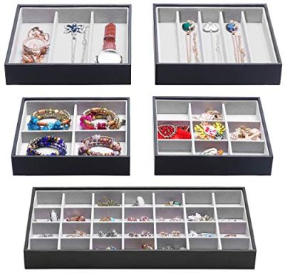 Magic Stackable Jewelry Trays Closet Dresser Drawer