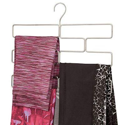 mDesign Modern Metal Closet Rod Hanging Accessory