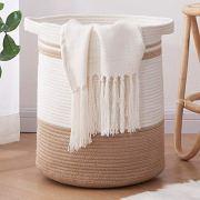 OIAHOMY Laundry Basket-Cotton Rope Basket