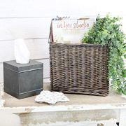Farmhouse Rustic Woven Willow Storage Basket