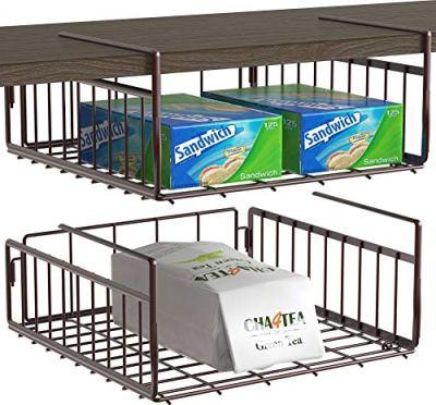 2 Pack - SimpleHouseware Under Shelf Basket