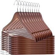 Quality Wooden Hangers - Slightly Curved Hanger 20 Pack Sets