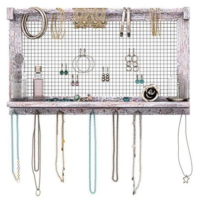 Rustic Jewelry Organizer Wall Mounted Jewelry Holder