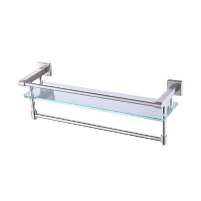 KES Bathroom Glass Shelf with Towel Bar and Rail