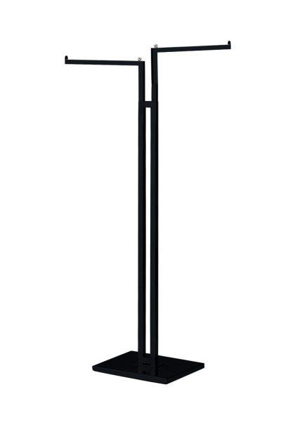 SSWBasics Black 2-Way Clothing Rack with Black Straight Arms