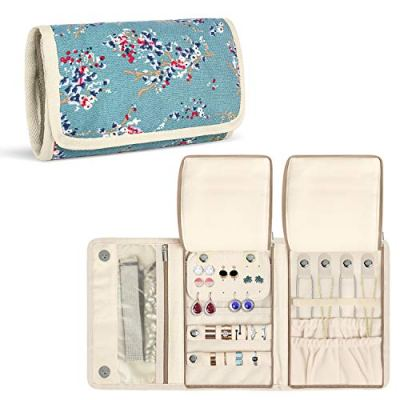 Teamoy Jewelry Roll, Jewelry Travel Organizer for Necklaces